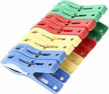Culater® 8 Stück bunt Kunststoff Badetuch Clips Kleiderbügel Kleiderbügel