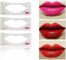 CULER 3Pcs Lip Liner Stencils 3 Lip Modell Stile
