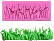 CULER Grass formte Silikon-Kuchen-Form-Küche