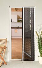 Culex 100580101-VH Plisseetür Plissee Insektenschutz Tür 125x220cm kürzbar weiss