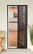 Culex 100580102-VH Plisseetür Plissee Insektenschutz Tür 125x220cm kürzbar braun
