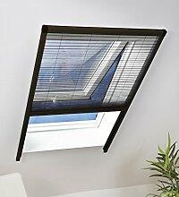 Culex Dachfensterplissee 110 x 160 cm, braun,