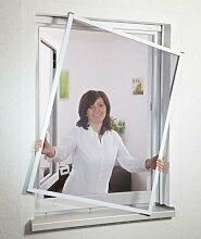 CULEX Insektenschutz-Fensterbausatz Basic braun, in verschiedenen Größen 130 cm, Fenster, 150 cm, anthrazi