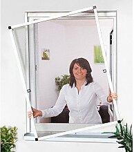 CULEX Insektenschutz-Fensterbausatz Basic braun, in verschiedenen Größen 120 cm, Fenster, 140 cm, anthrazi