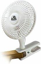 Cultivalley Clip Mini-Ventilator 15cm Durchmesser • Hochwertiger Tischventilator Stark & Leise für Büro, Zuhause, Schreibtisch • 2 Geschwindigkeitsstufen Steckdose 230V