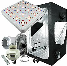 Cultivalley Growbox Komplett-Set 120x120x200cm,