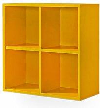 Cultmöbel Regal orange, Regalwürfel, 4er Cube