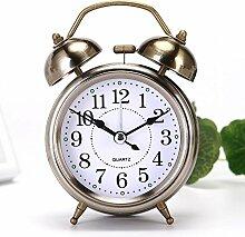 Cunclock Der Student Stimme Super Mute kinder Bett Wecker herrlich Faul Creative Fashion Night Lamp Clock 3 Zoll, Bronze