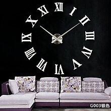 Cunclock Europäische Spiegel Uhr Große Wanduhr
