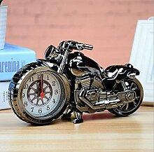 Cunclock Kreative Persönlichkeit statische Motorrad Wecker Student Schlafzimmer Bett Multifunktionshebel elektronische Uhr einfache und schöne Lokomotive Wecker