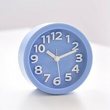 Cunclock Mechanische Wecker Bell Metall Wecker Snooze Kinder Schlafzimmer Bett faule Studenten Kreative große Uhr Runde blaue