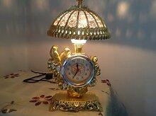 Cunclock Seiko Persönlichkeit Faulpelze Wecker Wecker Lampe Student Schlafzimmer Bett kreative Nacht Lampe Schreibtisch liefert Glücklichen Vogel Silber