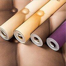 Cunguang Abwaschbares PVC Leder Design Tapeten für Hochwertige wasserdichte Finish Wand Papier Beige 5,3 qm.