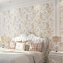 Cunguang Amerikanische Retro Garten Tapete Wohnzimmer Esszimmer Tv Kulisse Tapeten Große Blume Schlafzimmer 53Cmx1000Cm Pink