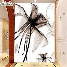 Cunguang Anpassen von 3D Relief Lilien Abstract Wallpaper für 3D-Wand Schlafzimmer Tv Hintergrund Tapete Wohnzimmer Non-Woven Wandbild Rollen Abbildung B XL 150 Cm X 200 Cm