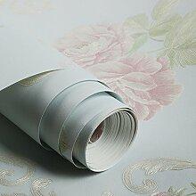 Cunguang Blumige Tapete Pastoralen Stil Floralen Tapete Schlafzimmer Wohnzimmer Blume Tapete 0 52 * 9.5M Ein