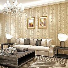 Cunguang Europäische Gestreiften Vlies Tapete 3D - Tapete Schlafzimmer Wohnzimmer Tv - Hintergrund Beauty Salon Tapeten 0 52 * 10 Ein