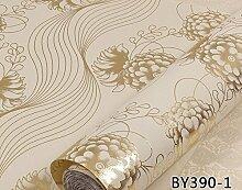 Cunguang Glitter europäischen Flash Pfingstrose Tapeten Rollen für Wände und modernen Luxus Blume Wand Papier für Decke Hotel Wohnzimmer 3901 5 Kubikmeter.