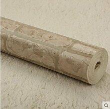 Cunguang Klassische Stein Backstein Tapete Chinesische 3D-PVC Hintergrund Tapete Wohnzimmer Schlafzimmer Tapete für Wände 3D Wall Paper Roll, Df 032,5.3 M²