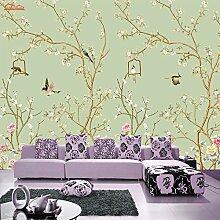 Cunguang Natürliche Vogel singen Baum 3D Raum geprägte Tapeten Rollen für 3D-Schlafzimmer Tapete Hintergrund Vliesstoffe für Wandmalereien Brötchen Bild eine Xl 200 Cm X 150 Cm
