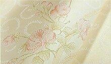 Cunguang Non Woven Schlafzimmer Süß und Romantisch rosa Hintergrund Tapete 3D Wallpaper, W 88023 Rosa