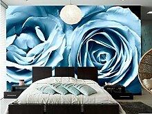 Cunguang Rosen hellblauen Blüten Wallpaper Hotel Coffee Shop Wohnzimmer Sofa Tv Wand Schlafzimmer Tapete Wandbilder Moderne Tapete Non Woven