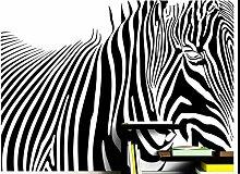 Cunguang Schwarz und Weiß Zebra Streifen Tier Tapete für Wandbilder Roll für 3d-Wände Hintergrundbilder für 3d Wohnzimmer Wand Papier, geprägtes Material, 300 x 200 cm