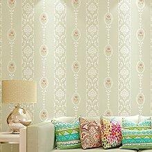 Cunguang Vertikal gestreifte Tapeten italienische Hersteller Wallpaper für Wohnzimmer Wand Papier Tv Background Home Dekoration Creme Weiß 5,3 qm.
