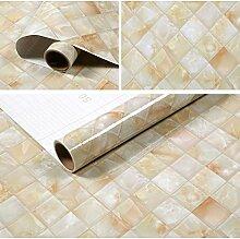 Cunguang wasserfeste Selbstklebende dreidimensionale Tapete 0,61 Meter x 5 Meter ein