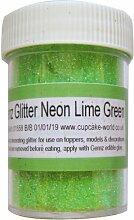 Cup Cake World Glitter für Kuchendekoration, 50 g, Neon-Limetten-Grün