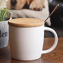 Cup-Keramikbecher Mit Decklöffel Frühstück