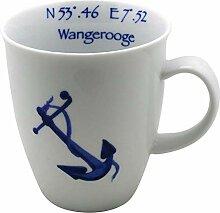 Cup und Mug Becher Nordisch Maritim Anker und
