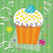 Cupcake Party Beverage Napkin