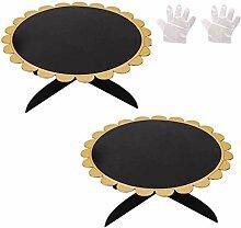 Cupcake-Ständer aus Pappe, 1 Ebene, rund, für