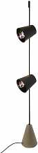 Cupido LED Stehleuchte / 2 Lampenschirme -
