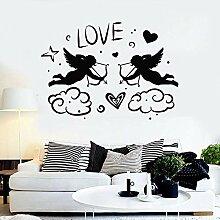 Cupids Wandaufkleber Bogen Engel Liebe Herz Pfeil