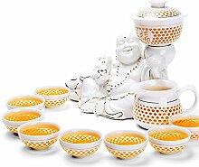 CUPWENH 11 Pcs/Viele Automatische Tee Set Chiese