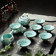 CUPWENH 9 Pcs/Set Kreative Handbemalt Lotus