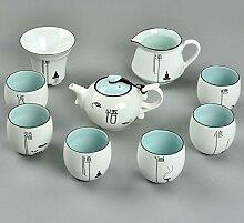 CUPWENH 9 Pcs/Viel Chinesisches Porzellan Tee Set