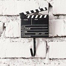 CUPWENH Amerikanische Kreative Persönlichkeit Schlüssel Haken Hängende Kleidung Shop Wand Wand Dekorationen Heimtextilien Eingang Wand, Projektor Serie/Se