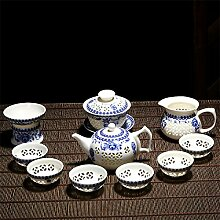 CUPWENH Blau - Weiße Porzellan Teeservice,