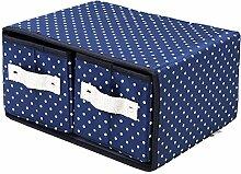 CUPWENH Bürobedarf, Schlichten Boxen, Hautpflegeprodukte, Katzentoiletten, Kleine Schublade Kosmetik, Desktop Aufbewahrungsboxen, Tuch, Kunst, Blue Poin