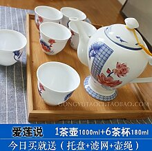 CUPWENH Das Bambus Und Geschirr Und Tee Set Home