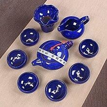 CUPWENH Eis Knacken Tee Zu Sieben Farbigen Eis Risse In Der Oberfläche Der Lei Yue Mun Cup Eingestellt Von Kung Fu Tee Tasse Keramik Becher Set?Teeservice
