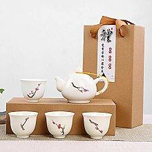 CUPWENH Exquisite Handgemalte Keramik Tee-Set