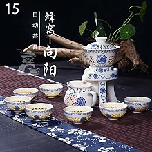 CUPWENH Exquisite Pfingstrose Automatische Tee Set