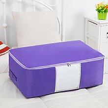 CUPWENH Fabric Aufbewahrungsbox, Große Veredelung Beutel, Kleidung Box Empfangen, Quilt Aufbewahrungstasche, 55 * 35 * 20 Cm, L