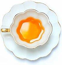CUPWENH Gold Umrandeten Weißen Porzellan