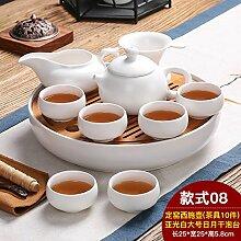 CUPWENH Home Kung Fu Kaffee Kit Keramik Bambus