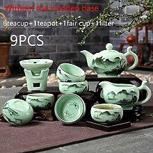 CUPWENH Im Chinesischen Stil Handbemalt Vintage